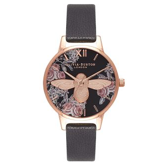 Olivia Burton 3D Bee Rose Gold Metal Plated Strap Watch - Product number 9418121