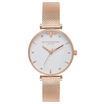 Olivia Burton Queen Bee Rose Gold Metal Plated Watch - Product number 9418180