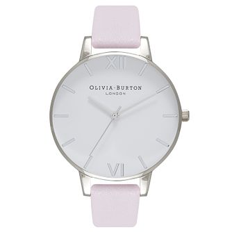Olivia Burton Silver Tone Metal Plated Pink Strap Watch - Product number 9418334