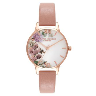 Olivia Burton Enchanted Garden Ladies Rose Gold Plated Watch - Product number 9418458
