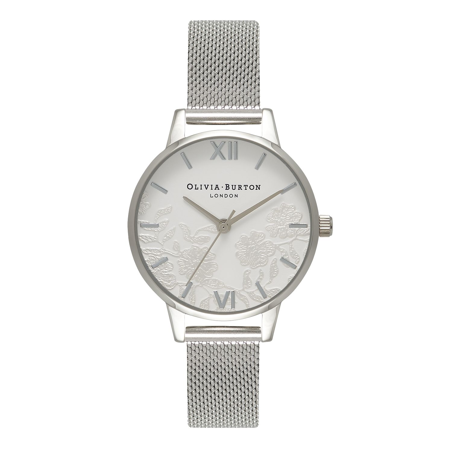 Olivia Burton Lace Detail Silver Metal Plated Watch - Product number 9419209
