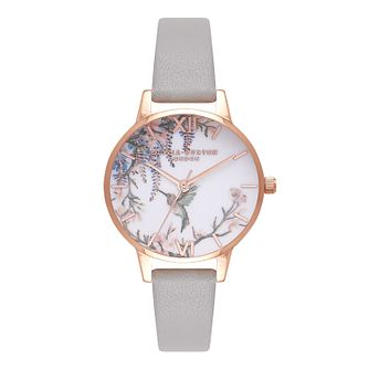 Olivia Burton Painterly Prints Rose Gold Metal Plated Watch - Product number 9419306