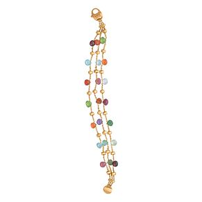 Marco Bicego 18ct yellow gold & mix stone 3 strand bracelet - Product number 9420797