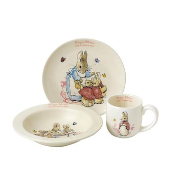 Peter Rabbit Flopsy, Mopsy & Cotton-tail 3-Piece Nursery Set - Product number 9422587
