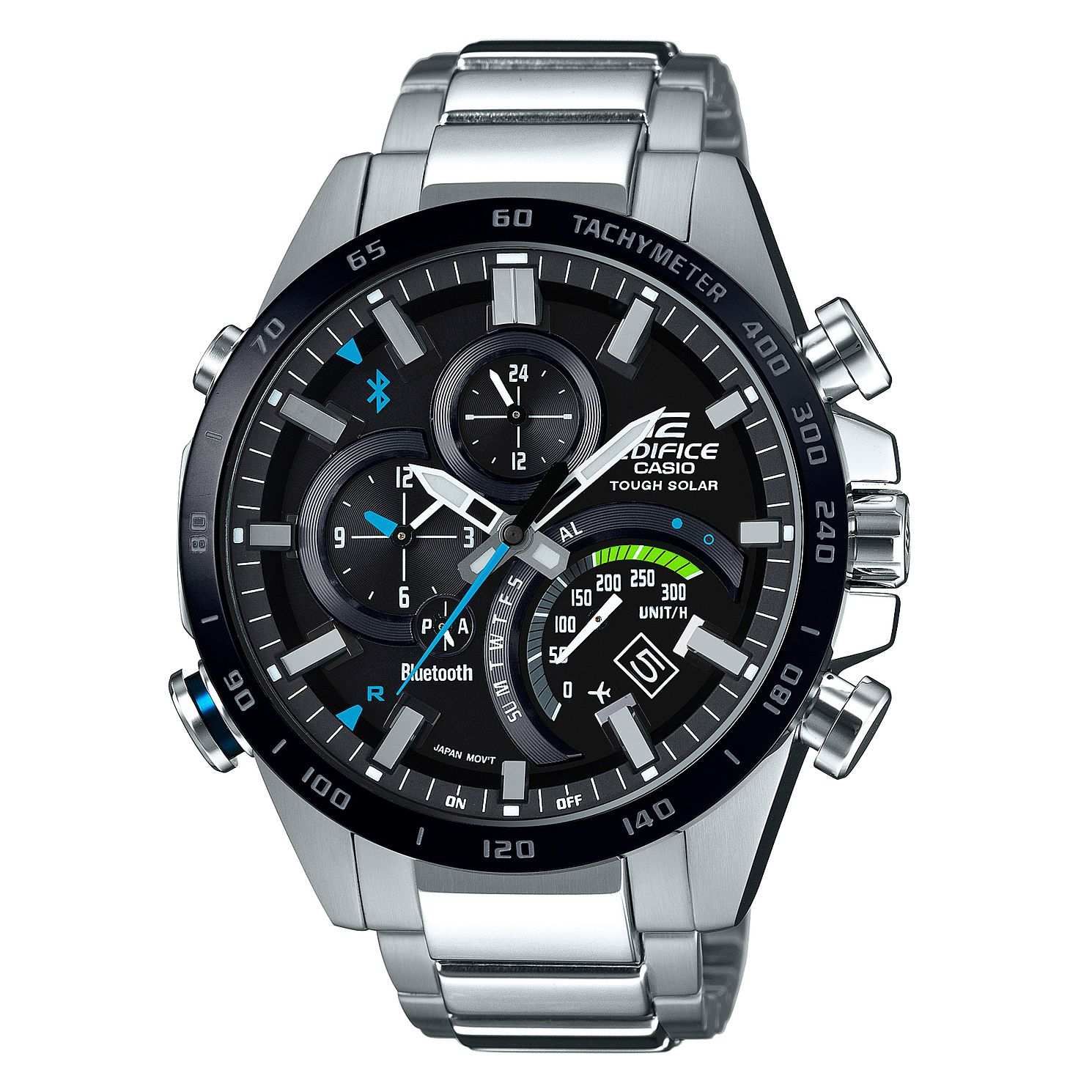 Casio Men's Stainless Steel Edifice Black Bracelet Watch - Product number 9423753