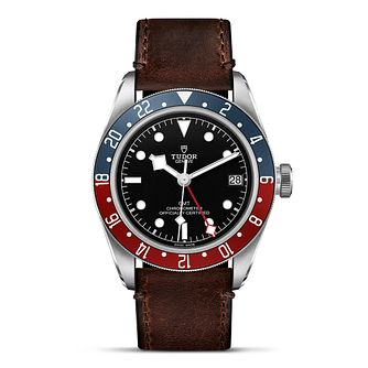 Tudor Black Bay GMT Men's Brown Leather Strap Watch - Product number 9424911