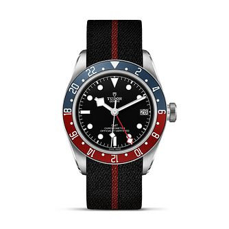 Tudor Black Bay Gmt Men's Stainless Steel Fabric Strap Watch - Product number 9424938