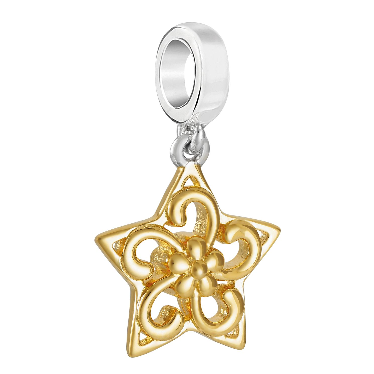 Chamilia Yellow Gold Plated Filigree Star Charm - Product number 9426477
