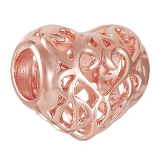 Chamilia Filigree Heart Blush Charm - Product number 9426566