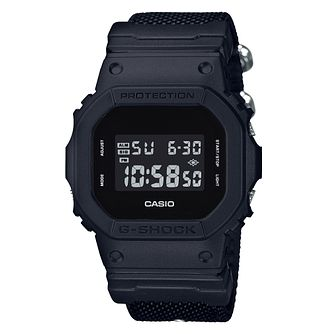 Casio G-Shock Men's Square Case Cloth Strap Digital Watch - Product number 9427392