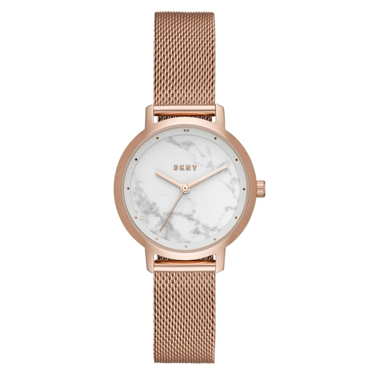 DKNY Modernist Ladies' Rose Gold Tone Mesh Bracelet Watch - Product number 9428186