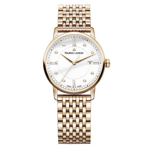 Maurice Lacroix Eliros Ladies' Gold Plated Diamond Watch - Product number 9429786