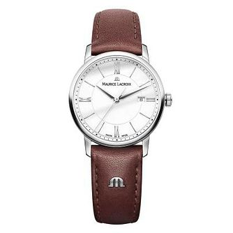 Maurice Lacroix Eliros Ladies' Brown Leather Strap Watch - Product number 9429808