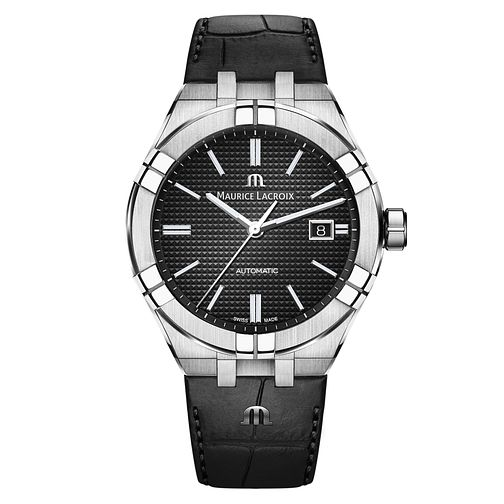 Maurice Lacroix Aikon Men's Black Leather Strap Watch - Product number 9429921