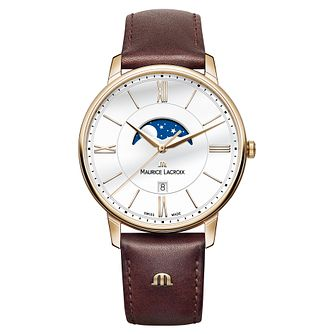 Maurice Lacroix Eliros Men's Moonphase Brown Strap Watch - Product number 9430121