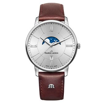 Maurice Lacroix Eliros Moonphase Men's Brown Strap Watch - Product number 9430148