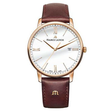 Maurice Lacroix Men's Eliros Brown Leather Strap Watch - Product number 9430253