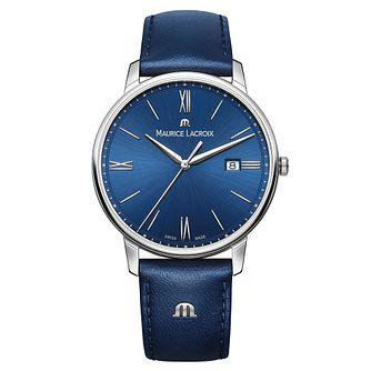 Maurice Lacroix Eliros Men's Blue Leather Strap Watch - Product number 9430296