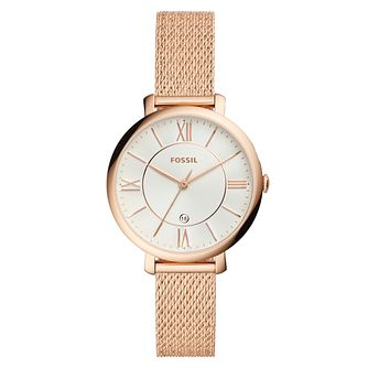 Fossil Rose Gold Tone Mesh Bracelet Watch - Product number 9430660