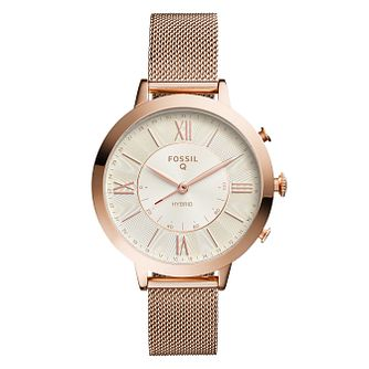Fossil Hybrid Smartwatch Q Jacqueline Rose Gold Tone - Product number 9430814