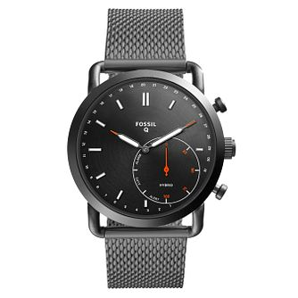 Fossil Hybrid Smartwatch Q Commutter Stainless Steel Watch - Product number 9430865