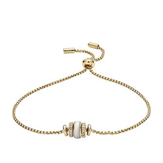 Fossil Rivershell Gold-Tone Steel Bracelet - Product number 9430989