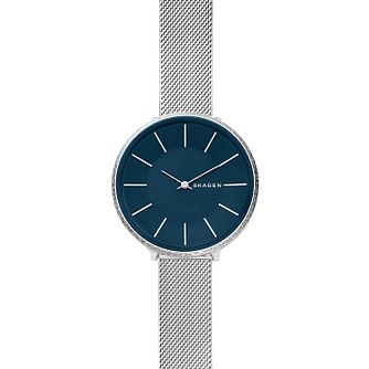 Skagen Karolina Silk-Mesh Blue Dial Watch - Product number 9431101
