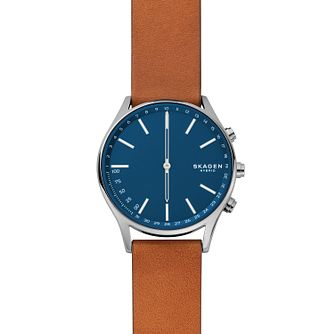 Skagen Connected Brown Leather Strap Hybrid Smart Watch - Product number 9431136