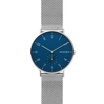 Skagen Signatur One-Hand Steel-Mesh Blue Dial Watch - Product number 9431152