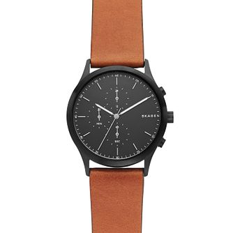 Skagen Brown Leather Strap Watch - Product number 9431179