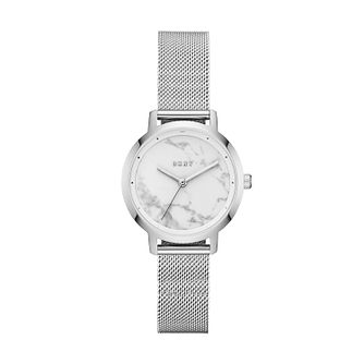 DKNY Ladies' Stainless Steel Silver Dial Bracelet Watch - Product number 9431187