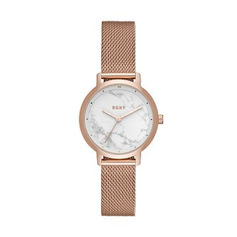 DKNY Ladies' Rose Gold Tone Stainless Steel Bracelet Watch - Product number 9431195