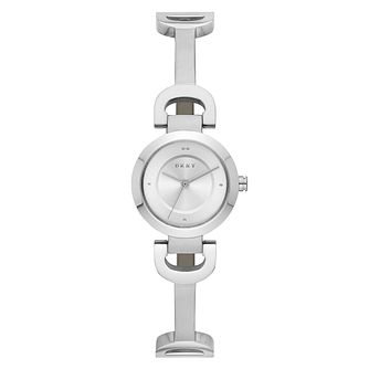 DKNY Ladies' Reade Silver Stainless Steel Bangle Watch - Product number 9431209