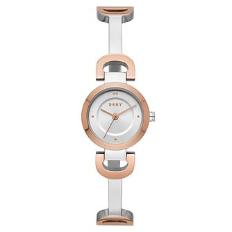 DKNY Ladies' Reade Two-Tone Stainless Steel Bangle Watch - Product number 9431217