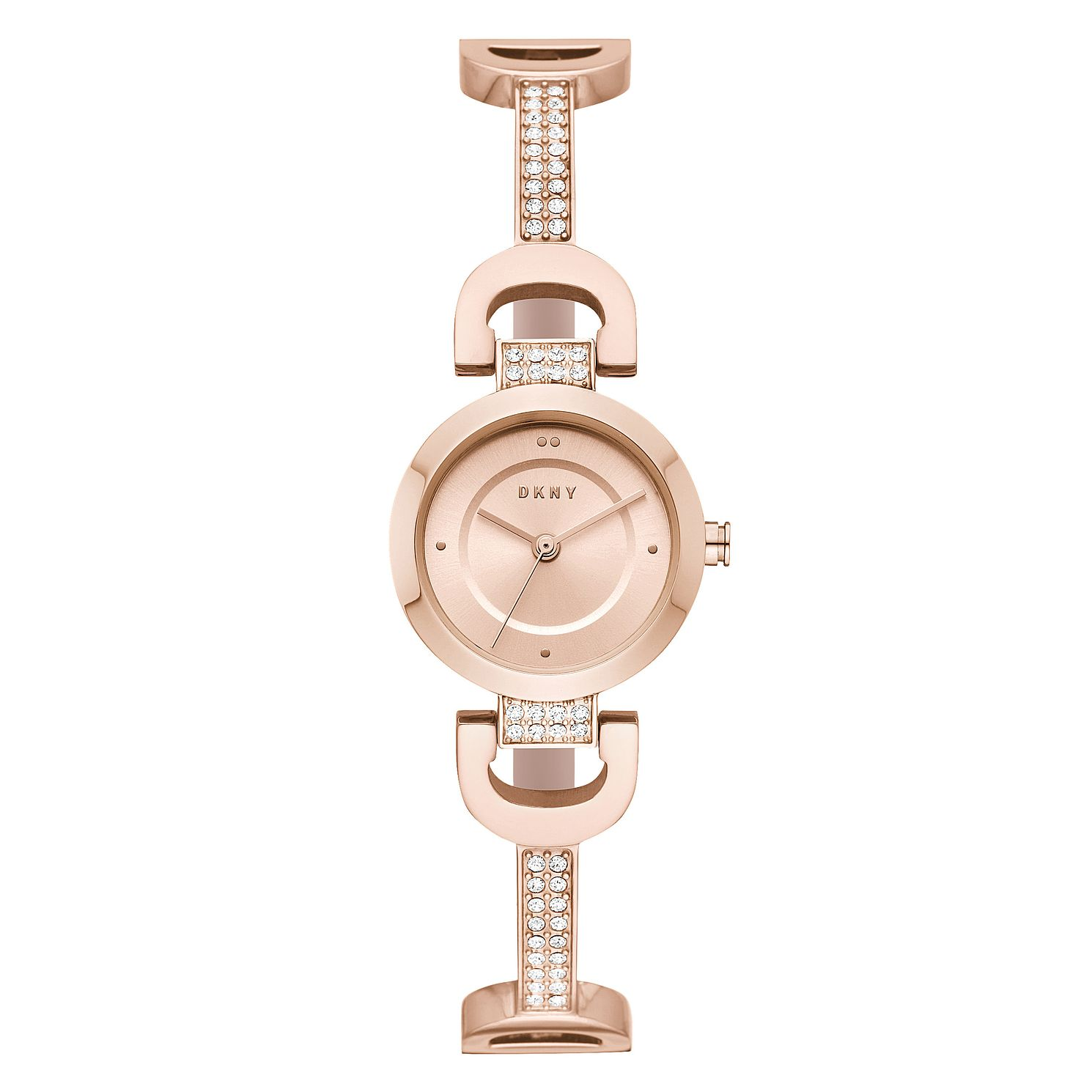 DKNY Ladies' City Link Rose Gold Tone Stainless Steel Watch - Product number 9431233
