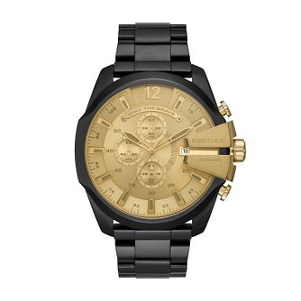 Diesel Mega Chief Black Stainless Steel Bracelet Watch - Product number 9431284