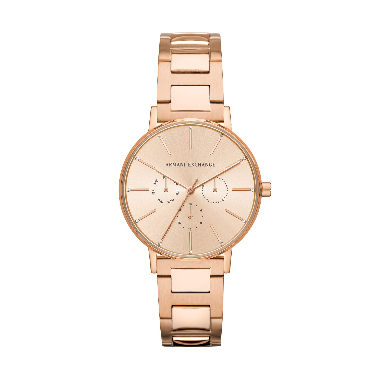 Armani Exchange Rose Gold Dial Stainless Steel Watch - Product number 9431373