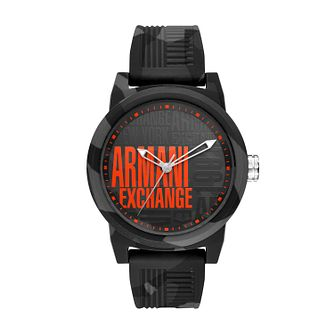 Armani Exchange Multi Dial Black Silicone Strap Watch - Product number 9431411
