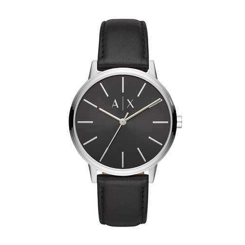Armani Exchange Black Leather Strap Watch - Product number 9431500