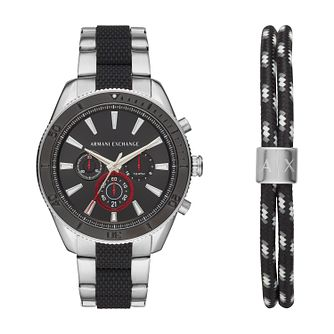 Armani Exchange Black Gift Set Watch & Bracelet Set - Product number 9431527
