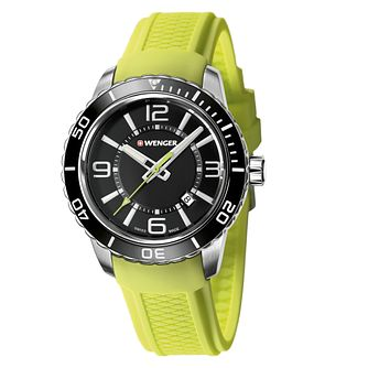 Wenger Roadster Men's Green Silicone Strap Watch - Product number 9432264