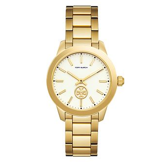 b5a4e4a1312 Tory Burch Collins Ladies  Yellow Gold Tone Bracelet Watch - Product number  9432841