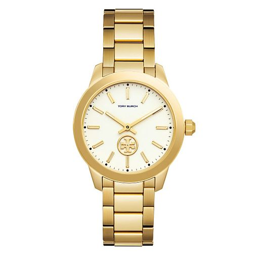 Tory Burch Collins Ladies' Yellow Gold Tone Bracelet Watch - Product number 9432841