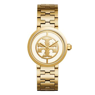 Tory Burch Reva Ladies' Yellow Gold Tone Bracelet Watch - Product number 9433368