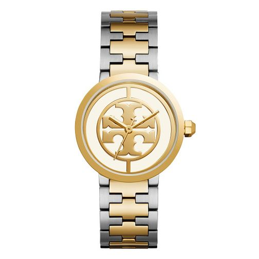 Tory Burch Reva Ladies' Two Colour Yellow Gold Tone Watch - Product number 9433376