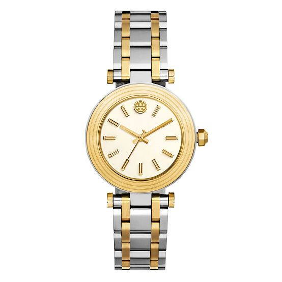 Tory Burch Classic T Ladies' Two Colour Gold Tone Watch - Product number 9433538