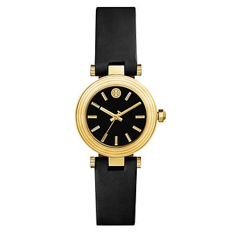 5551da99514 Tory Burch Classic T Ladies  Yellow Gold Tone Black Watch - Product number  9433570