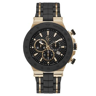 Gc Structura Men's Black Silicone Strap Watch - Product number 9433856