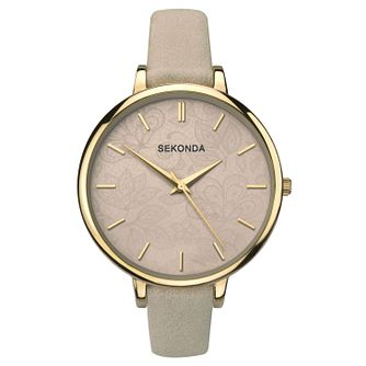 Sekonda Editions Ladies' Brown & Grey Patterned Strap Watch - Product number 9434151