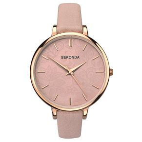 Sekonda Editions Ladies' Dusty Pink Strap Watch - Product number 9434186